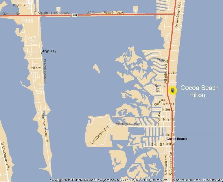 Camex3 cocoa beach fl map area map of the cocoa beach fl area sciox Gallery