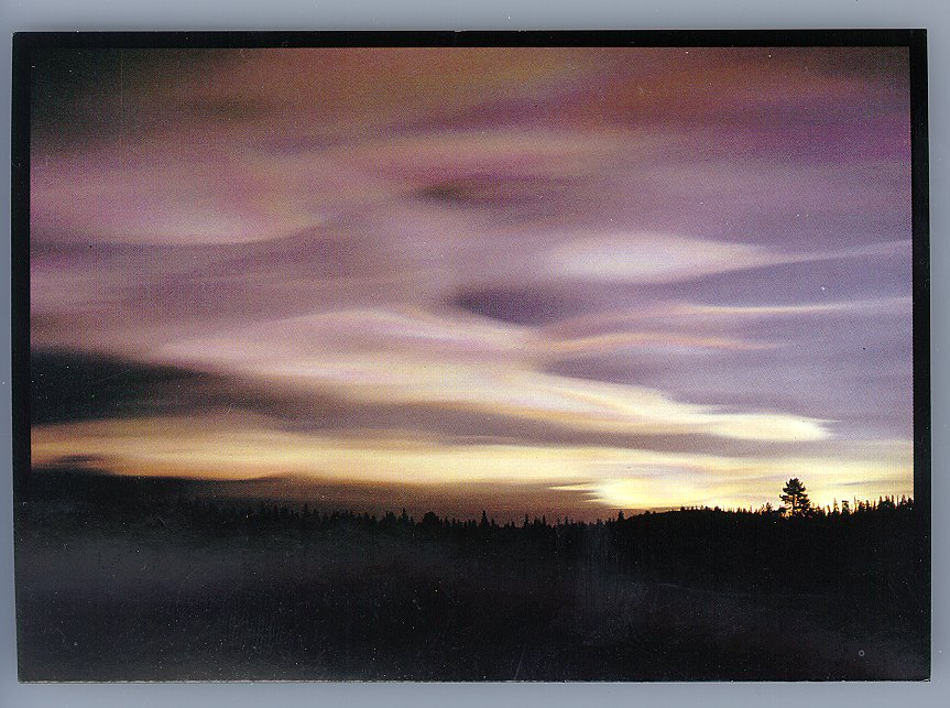 Polar Stratispheric Clouds near Kiruna, Sweden.