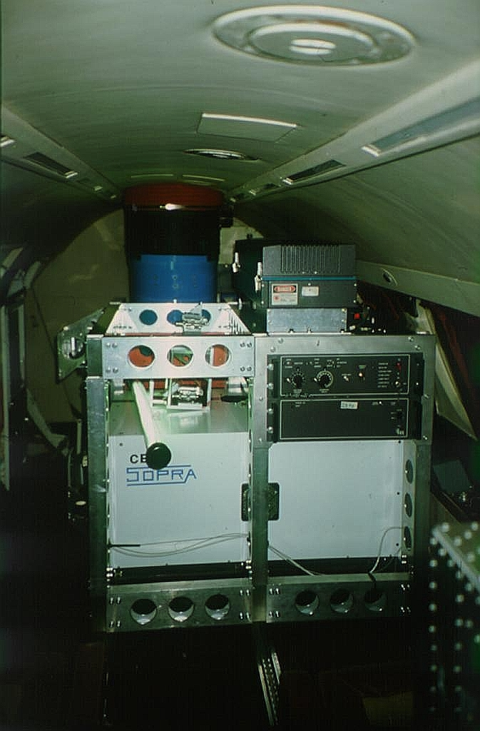FALCON Aircraft instrument payload during flight.